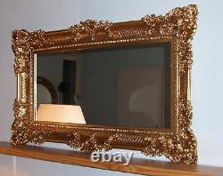 Wall Mirror Gold 96x57 Antique Baroque Shabby Chic Floor Hair Do Boutique New