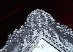 Wall Mirror Silver 96x57 Antique Baroque Rococo Mirror Shabby Chic Retro Design
