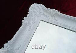 Wall Mirror White 96 x 57 Antique Baroque Rococo Shabby Chic Retro Design 3