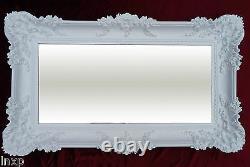 Wall Mirror White 96x57 Antique Baroque Rococo Shabby Chic Retro Design Wow