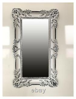 Wall Mirror White Black 96x57 Antique Baroque Shabby Chic Baroque Mirror