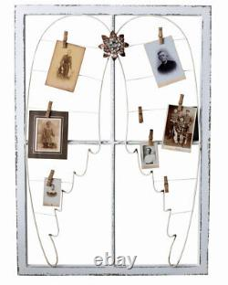 Wall Shelf Shabby Chic Angel Wings Memo Board White Memo Picture Frame Antique