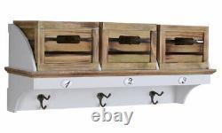Wardrobe Wall Shelf Shabby Chic Towel Rail Wall Cabinet Kitchen Cupboard